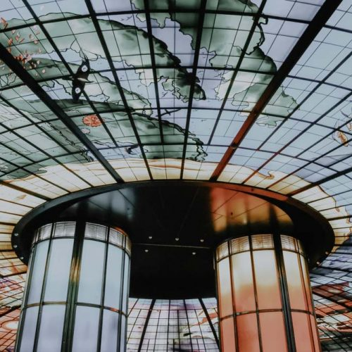 Dome of Light in der Formosa Boulevard Station in Kaohsiung Taiwan