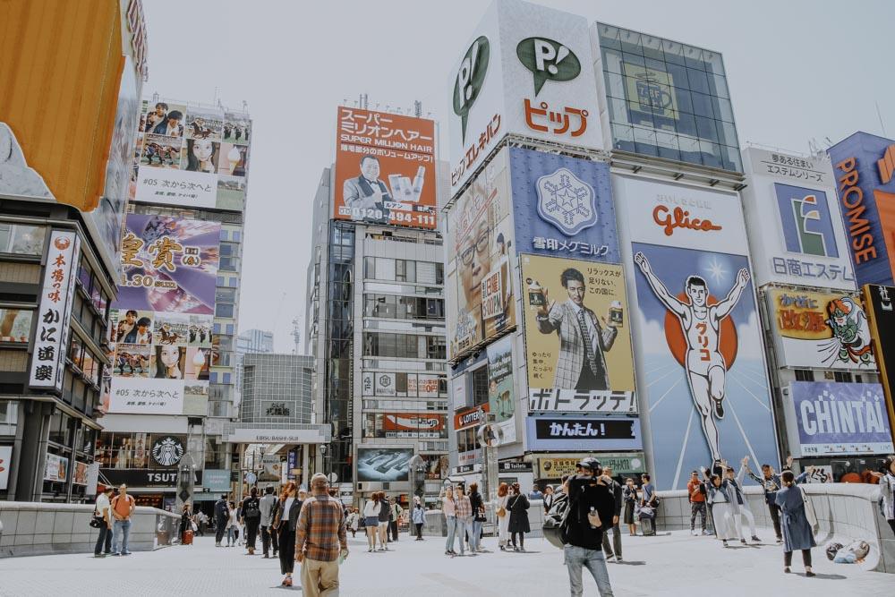 Sehenswürdigkeiten in Osaka: Glico Man von Glico Candy in Dōtonbori