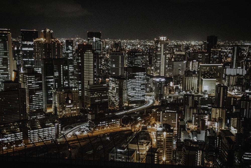 Ausblick vom Umeda Sky Building in Osaka