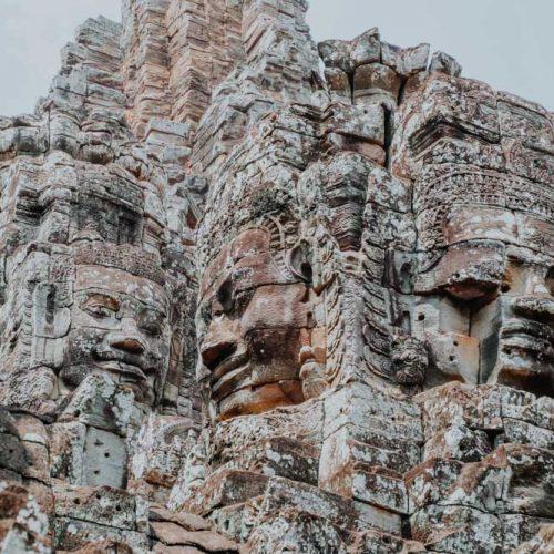 Steingesichter des Bayon in Angkor