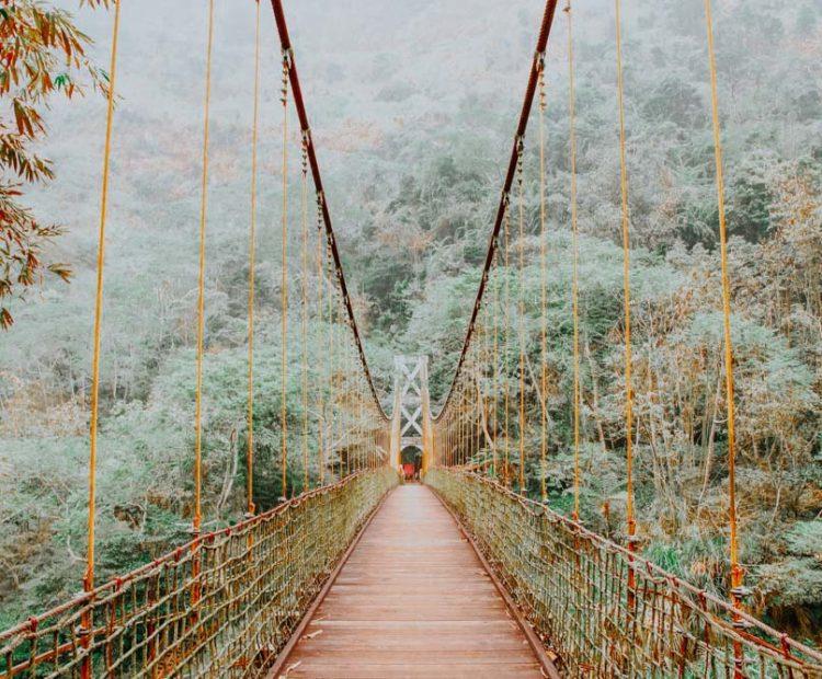 Brücke am Zhushan Sky Ladder Trail
