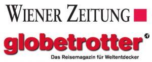 Wiener Zeitung und Globetrotter Magazin Logo