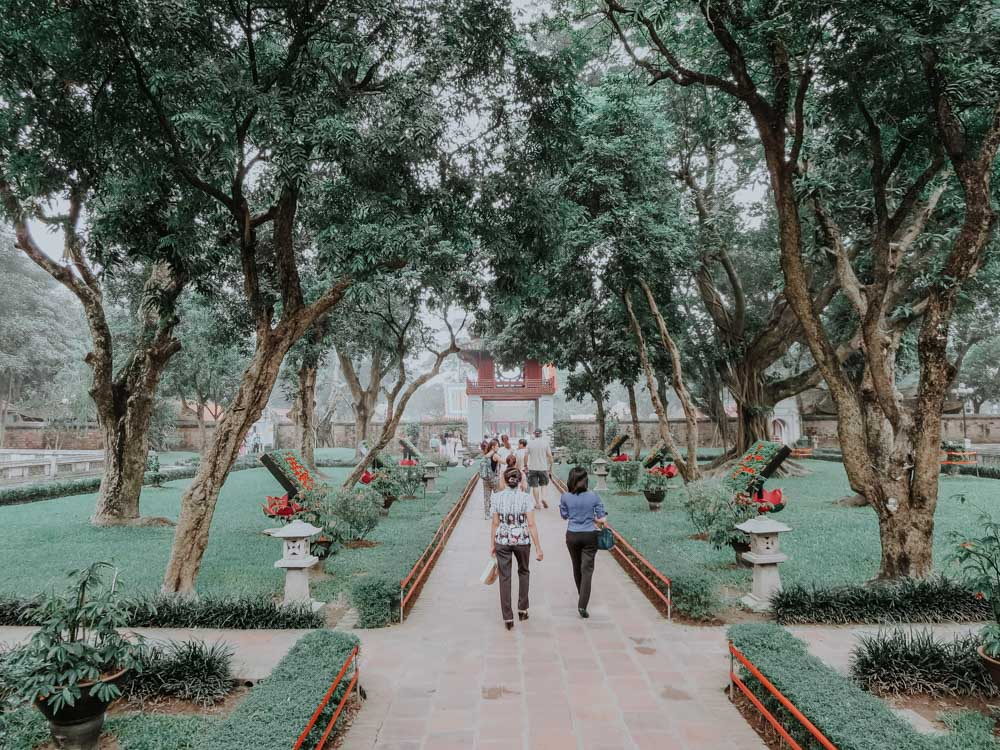 geniale Plätze in Hanoi Garten im Temple of Literature