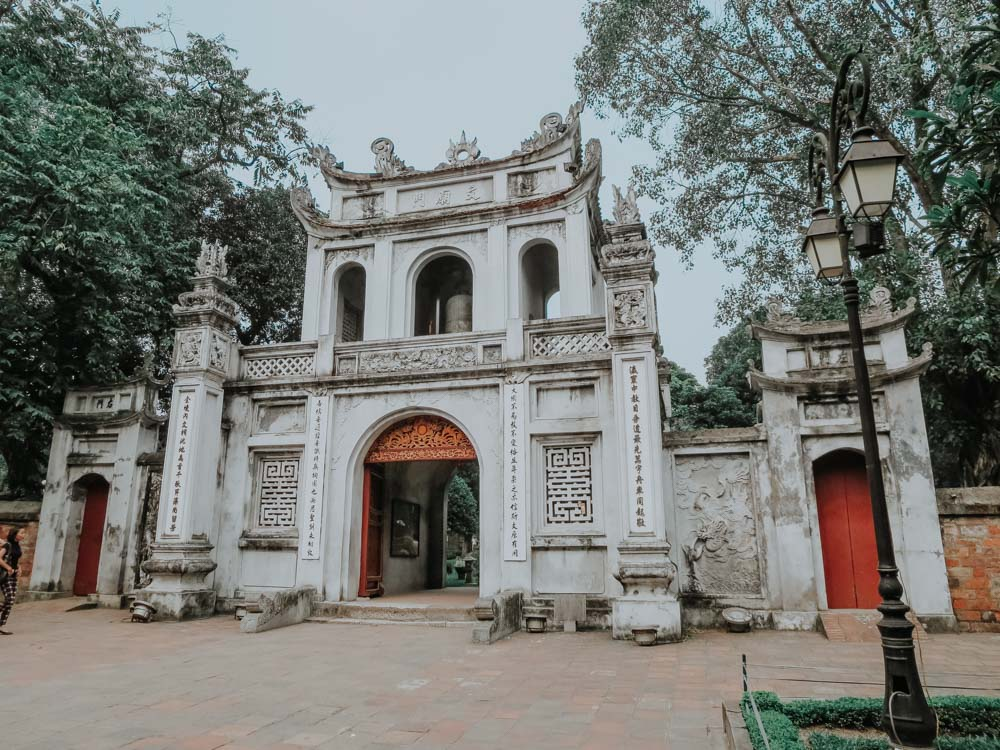 Temple of Literature Entrance Gate in Hanoi