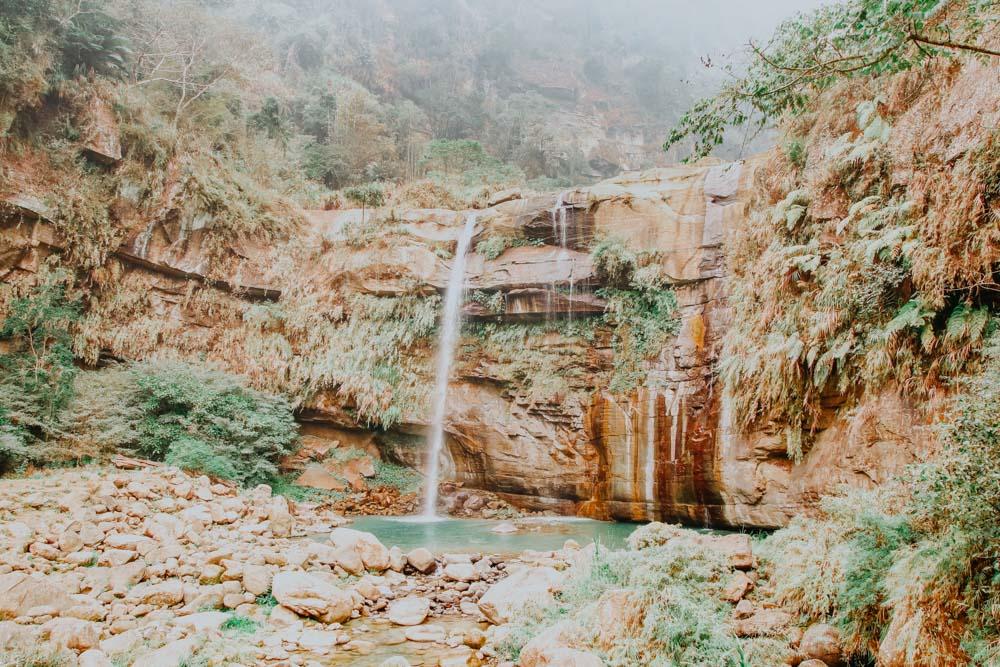 Green Dragon Waterfall in Taiwan