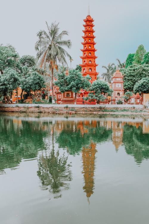 geniale Plätze in Hanoi - Tran Quoc Pagoda