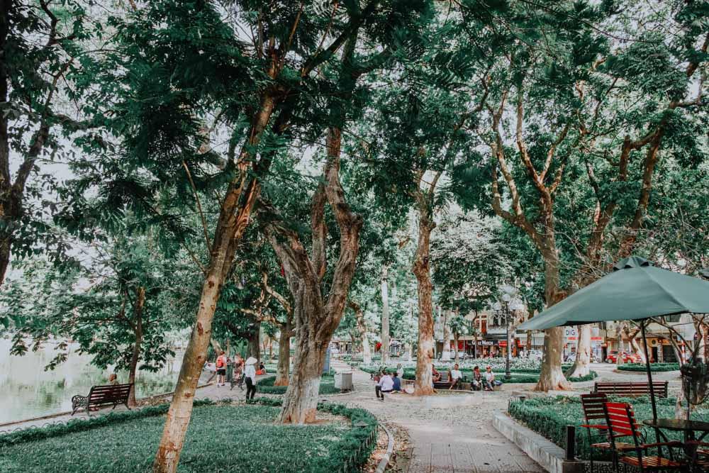 Promenade am Hoan Kiem Lake ein genialer Platz in Hanoi