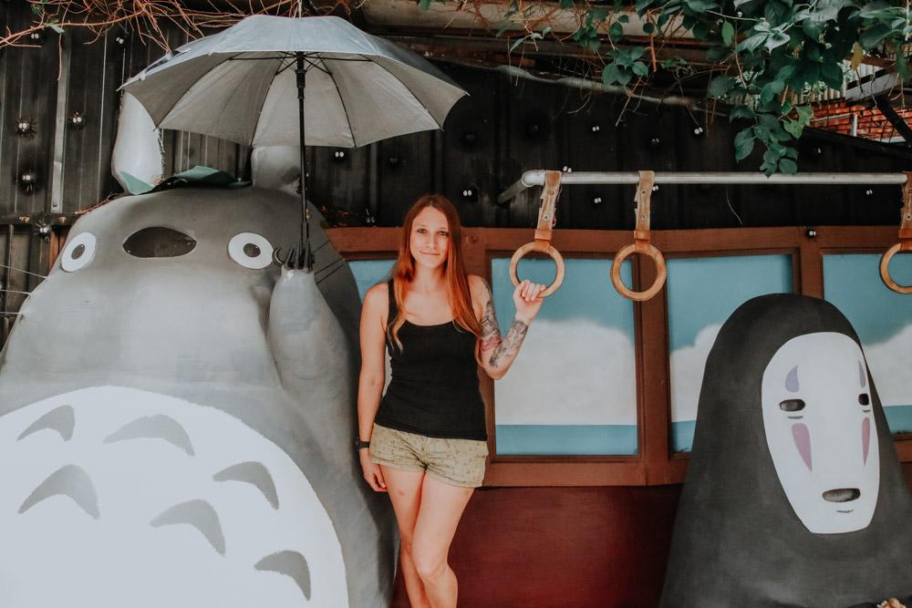 Ohn Gesicht und Totoro in Taichung