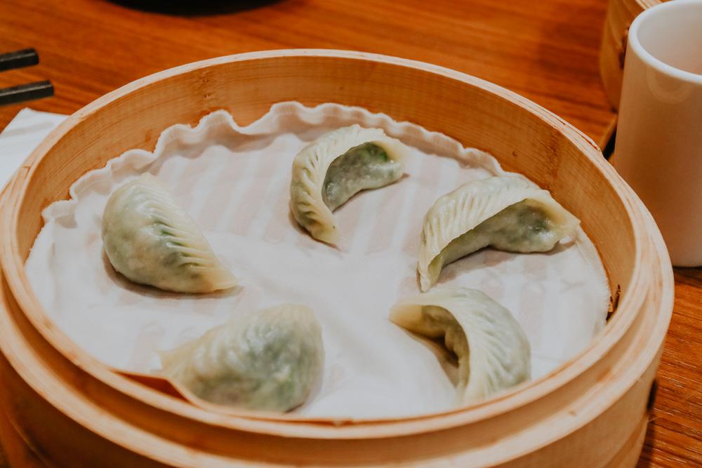 Steamed Vegitarian Mushroom Dumplings im Din Tai Fung