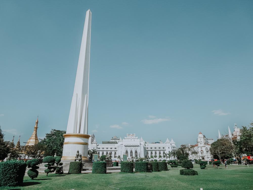 Mahabandula Garden im Kolonialviertel von Yangon Myanmar