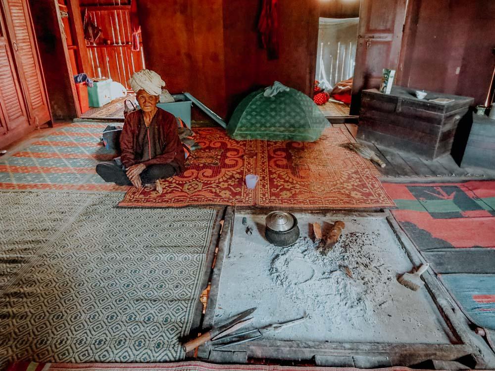 Ein Haus vom Stamm der Pa-O Myanmar