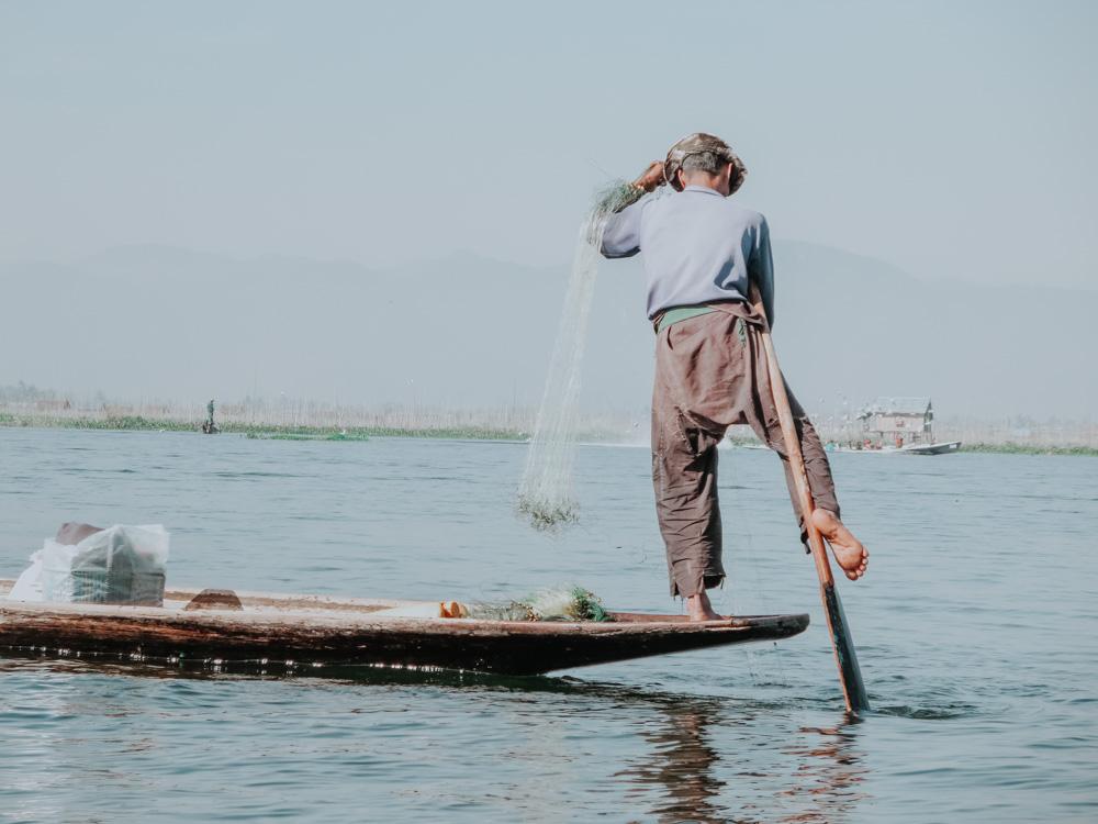 Must sees in Myanmar: Fischer am Inle Lake