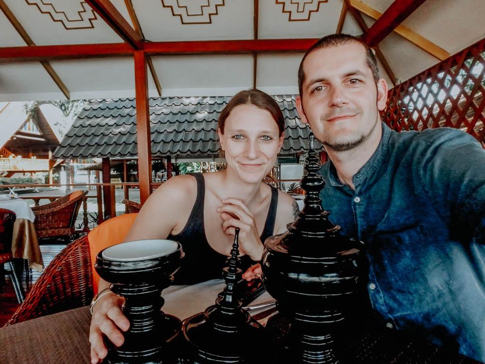 """Restaurant """"Mya Nandar"""" am Irrawaddy in Mandalay Myanmar"""