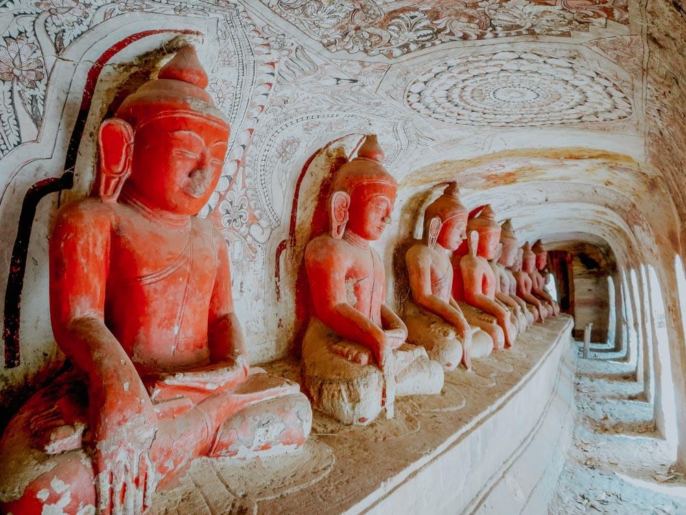 Must sees in Myanmar: Buddha Figuren in den Pho Win Taung Höhlen