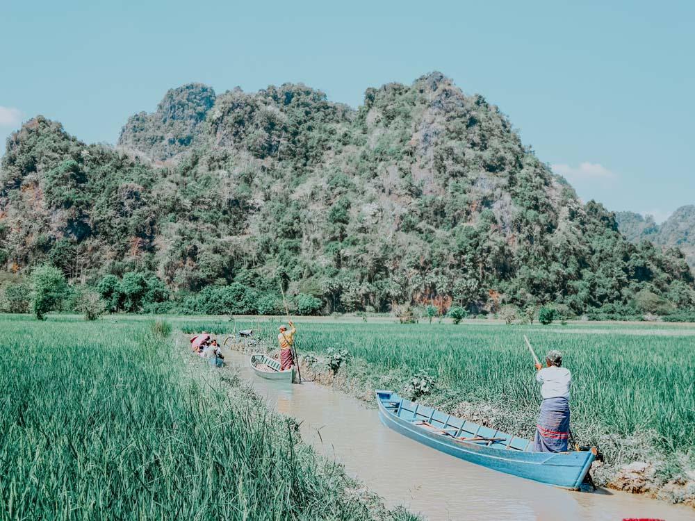 Must sees in Myanmar: Kanal bei der Saddar-Höhle