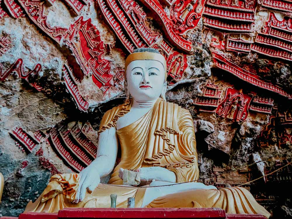 Must sees in Myanmar: Buddha in der Kaw-Goon-Höhle
