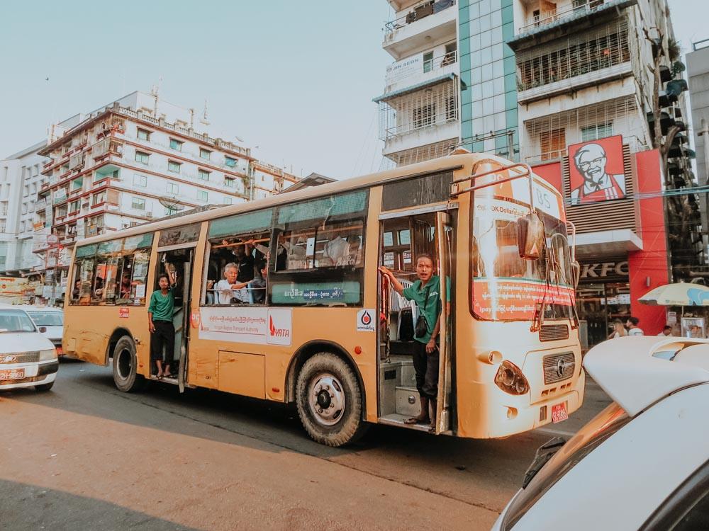 Public Bus Yangon