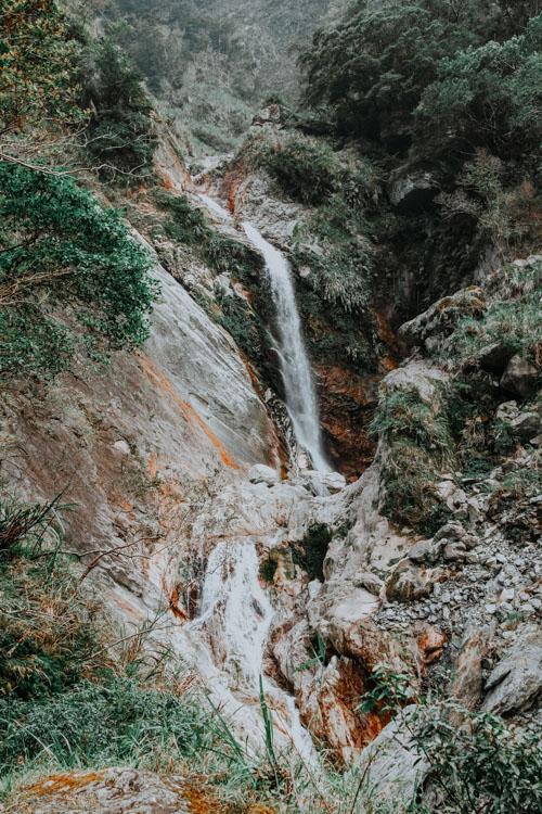 Baiyang Waterfall in der Taroko Schlucht
