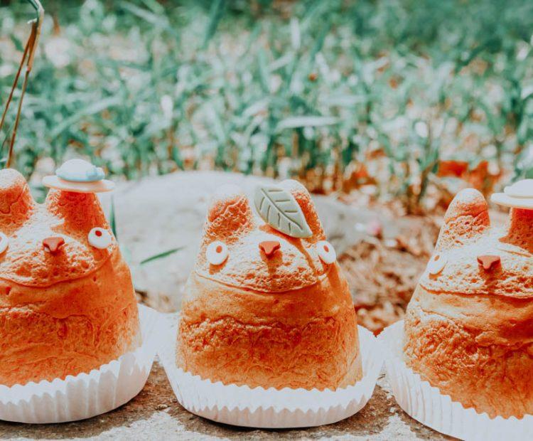 Japanische Produkte: Totoro Cream Puffs aus der Shiro Higes Cream Puff Factory in Tokio