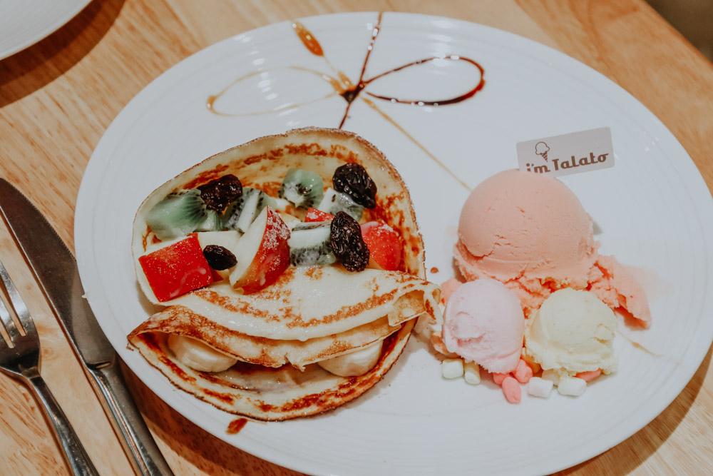 außergewöhnliche Cafés in Taiwan: Crepes mit Eis im I'm Talato in Taichung
