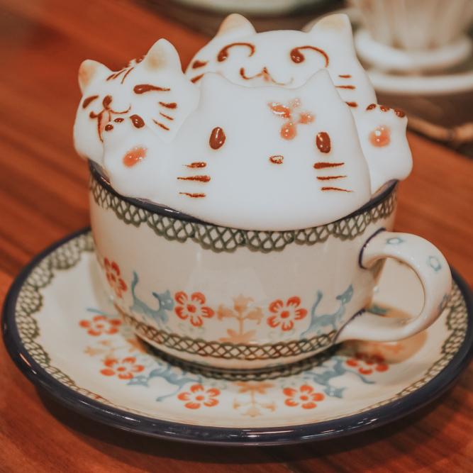 Latte Art im My Cofi in Kaohsiung