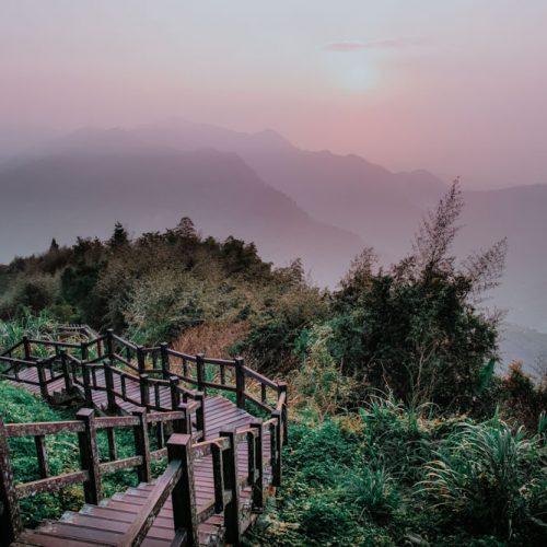 Sonnenuntergang am Eryanping Trail in Xiding