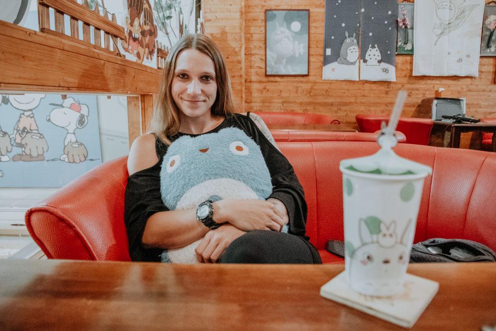 außergewöhnliche Cafés in Taiwan: Gemütliches Ambiente des Totoro Cafes in Taichung