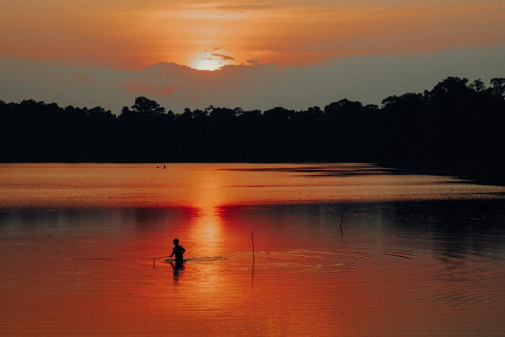 Sunset at Srah Srang