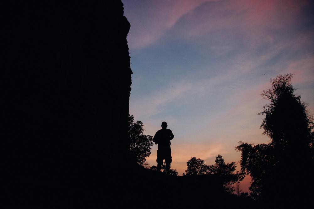 Sunset at Baksei Chamkrong