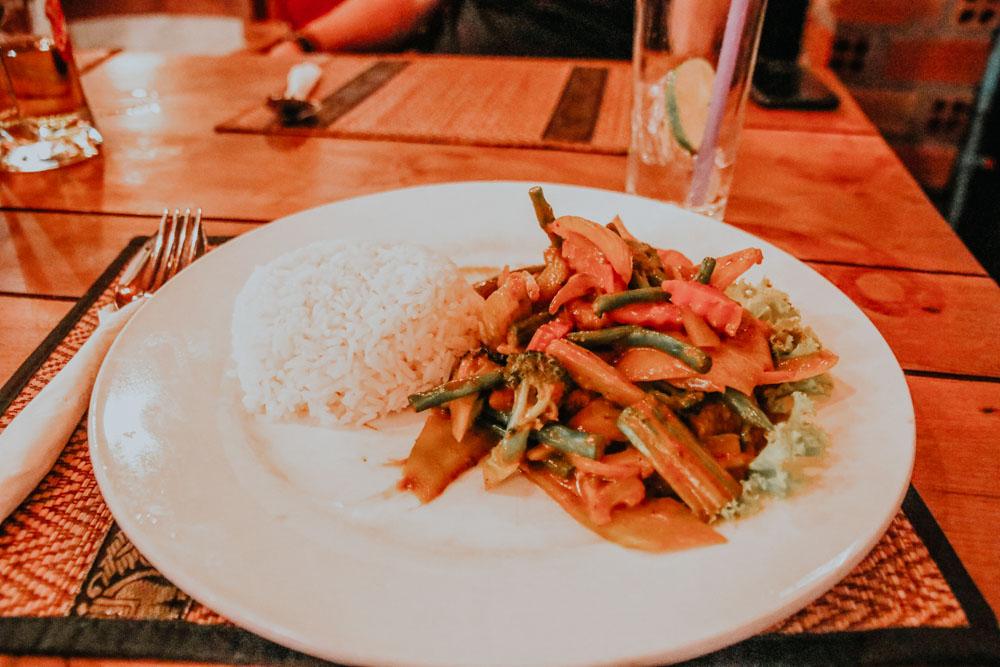 Panang Vegetables im Try Me Restaurant in Siem Reap Kambodscha