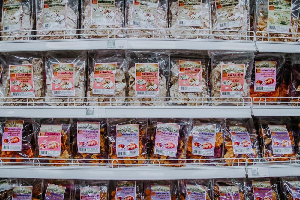 Taro Chips aus Kambodscha