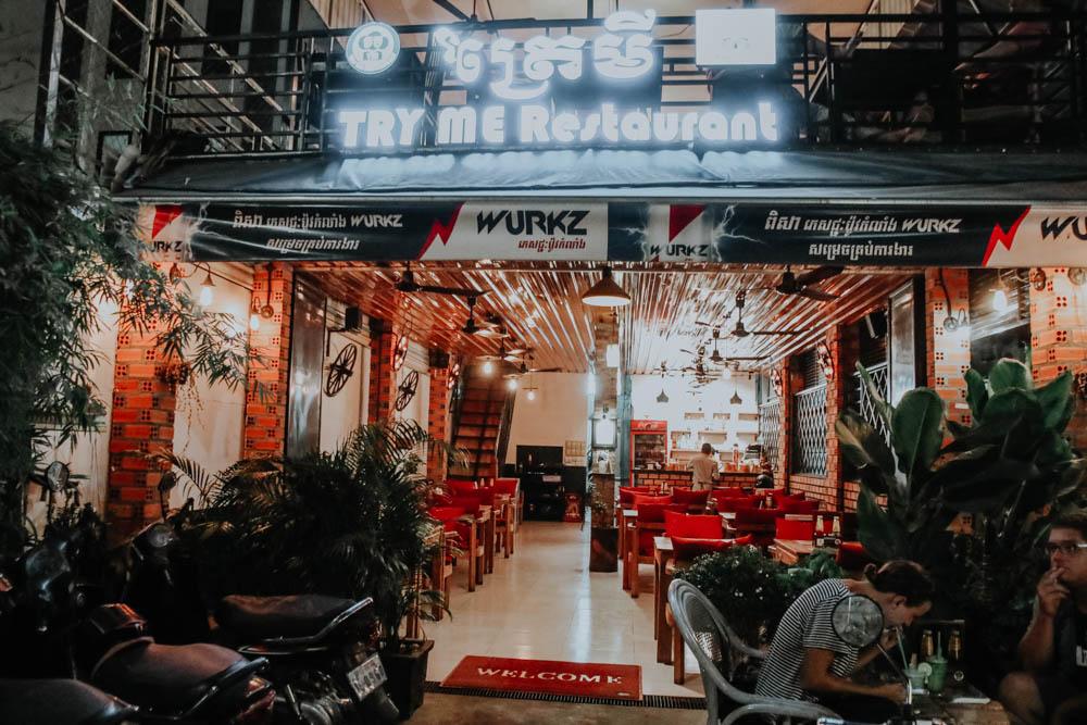 Wo essen und schlafen in Siem Reap Kambodscha: Try Me Restaurant