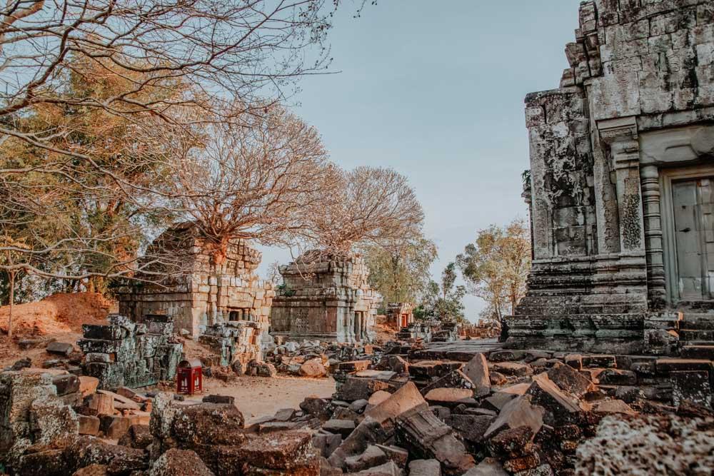 Sonnenuntergang in Angkor: Phnom Bok Tempel