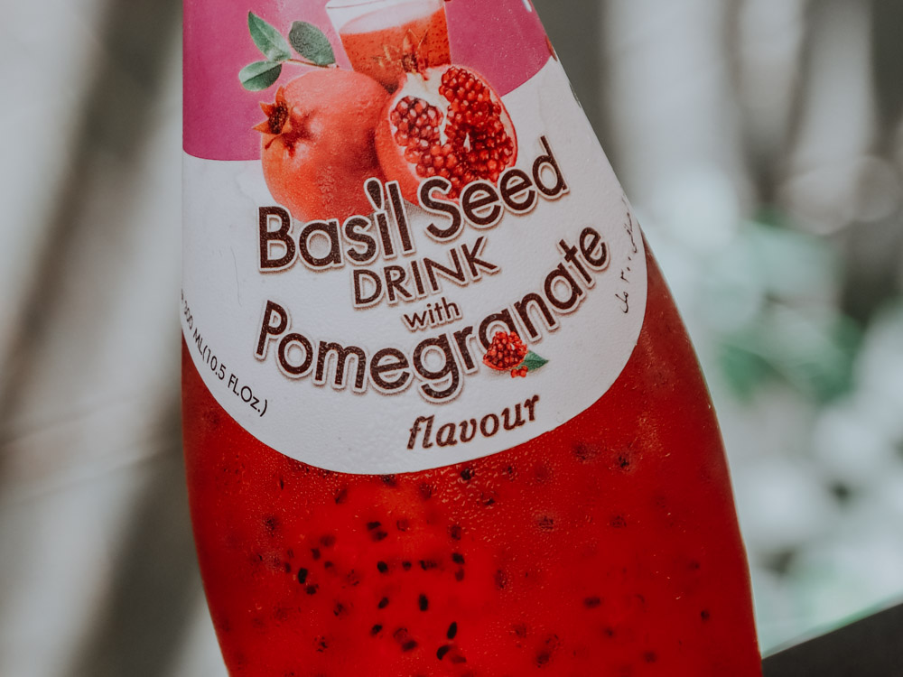 Basil Seed Dring Pomegranate