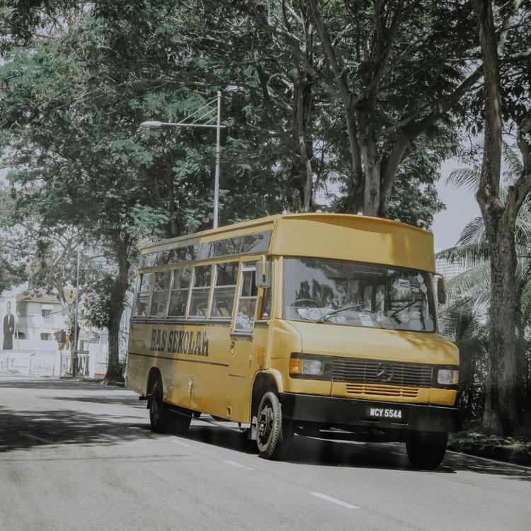 Bus in George Town in Malaysia