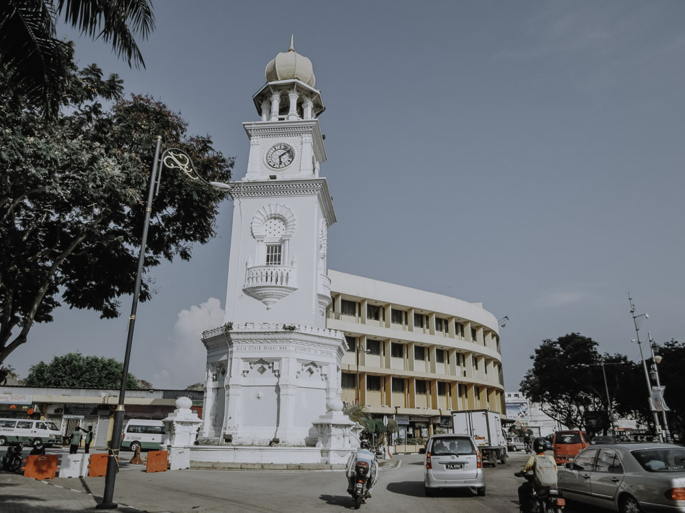 Queen Victoria Memorial Clock Tower in George Town Malaysia