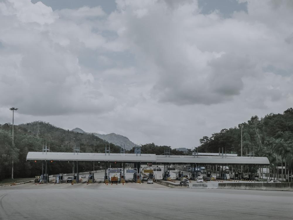 Mautstelle in Malaysia
