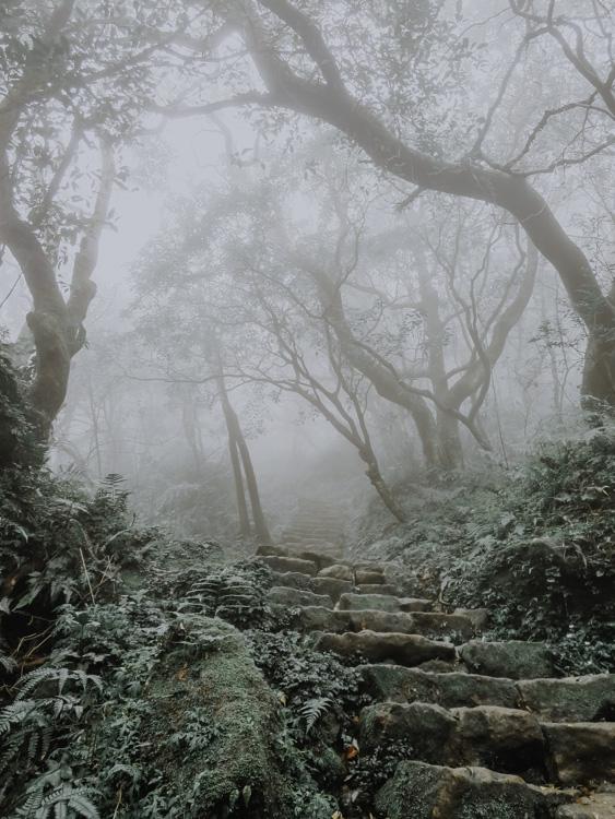 Mount Qixing Trail im Yangmingshan National Park in Taiwan