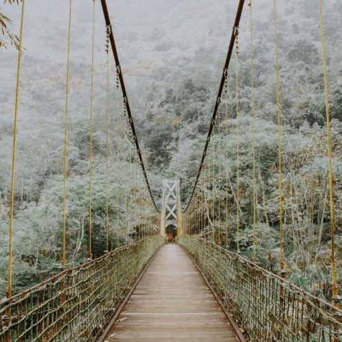 Hiking in Taiwan Zushan Sky Ladder and Green Dragon Waterfall Trail