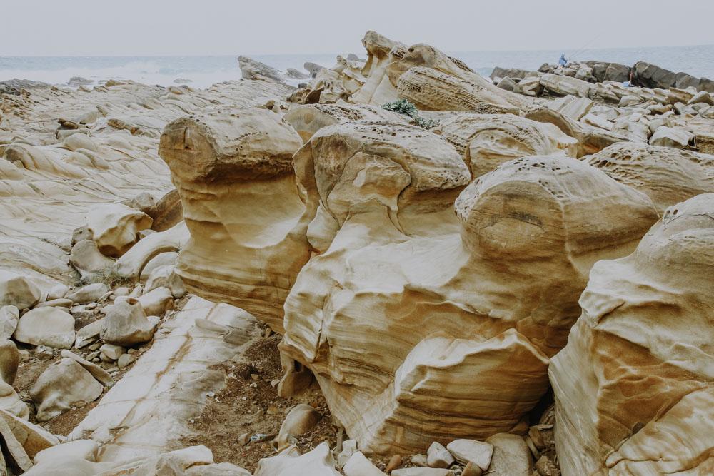 Mushroom Rocks in Xiaoyeliu in Taiwan
