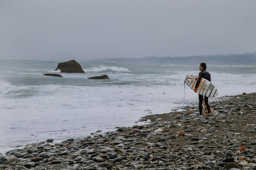 Surferstrand bei der Donghe Bridge