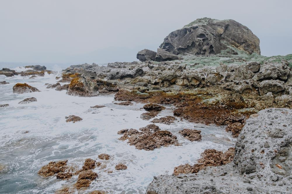 Turtle Rock auf Sanxiantai in Taiwan