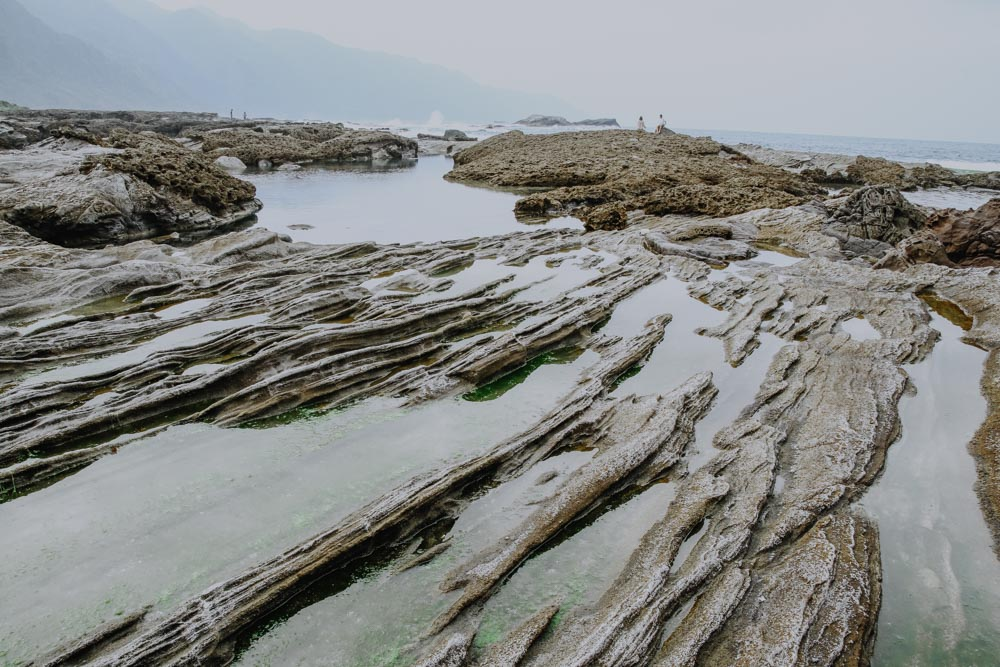 Felsplateau von Shitiping in Taiwan