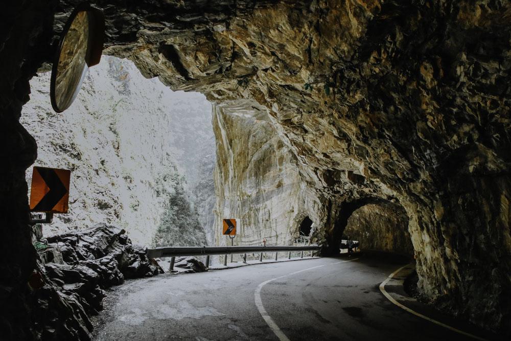 Swallow Grotto in der Taroko Schucht