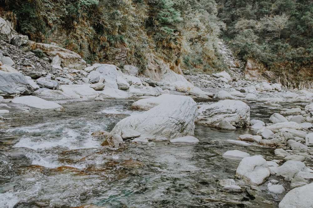 Baiyan Waterfall Trail in der Taroko Schucht