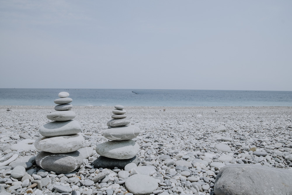 Steinturm am Qixing Lake in Taiwan