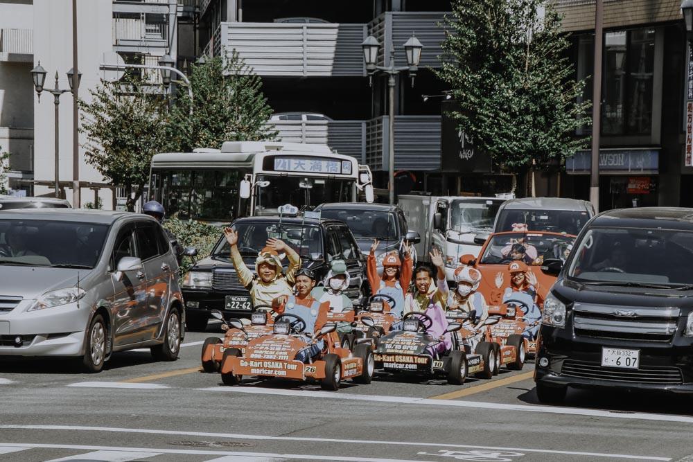 Real Life Mario Kart in Osaka