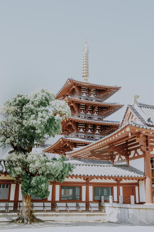 Fünfstöckige Pagode des Shitennō-ji Tempels in Osaka