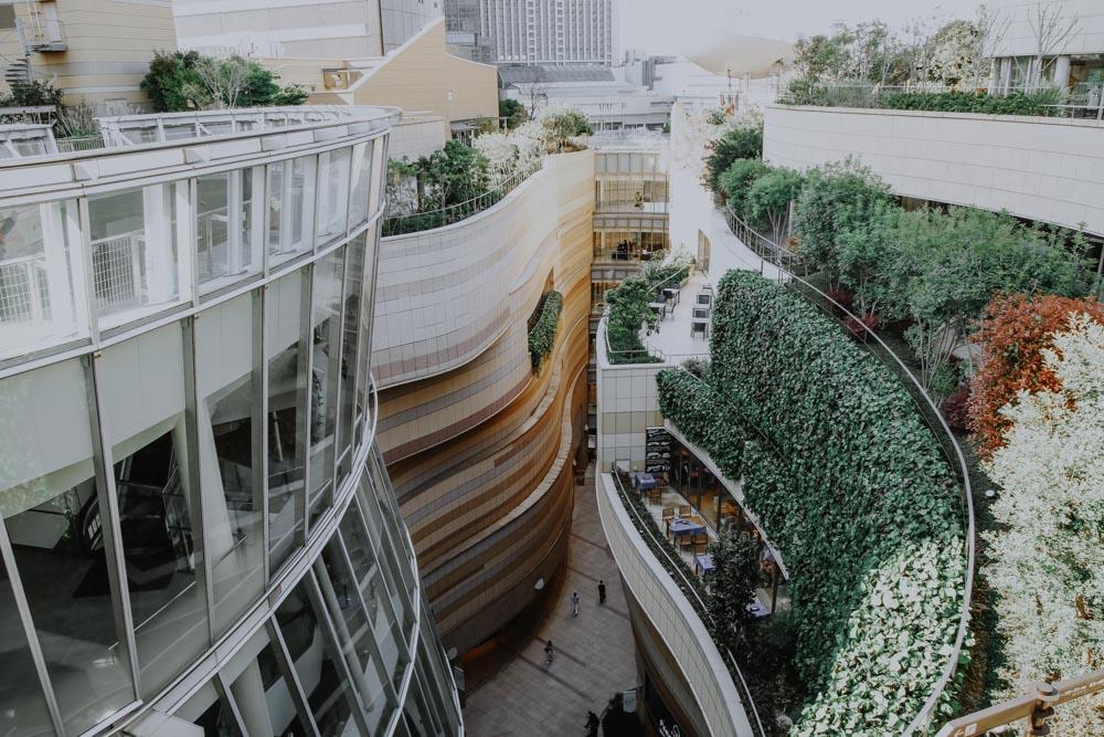 Ausblick vom Dachgarten des Namba Parks