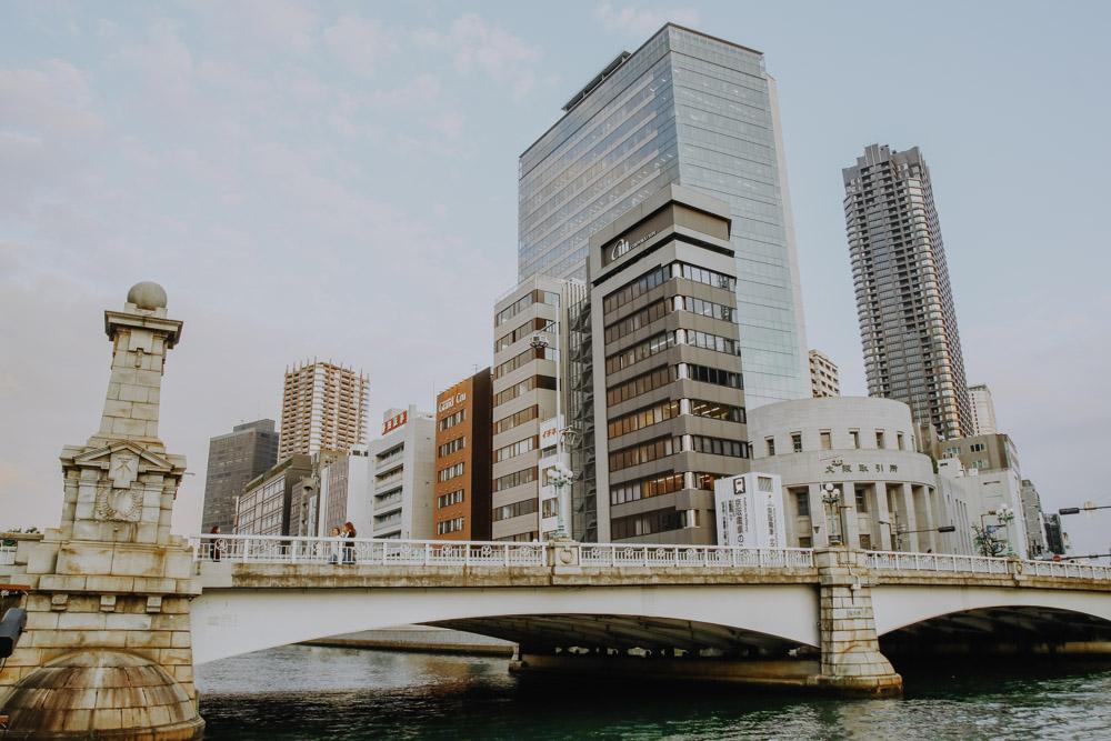 Sehenswürdigkeiten in Osaka - Naniwa Bridge
